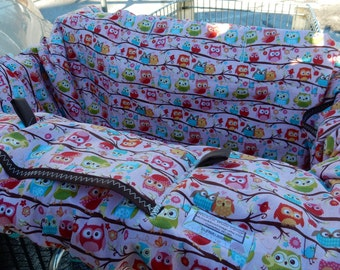 Shopping cart cover for girl PINK Flappers HOOTERS/OWLS...... Shopping Cart Cover