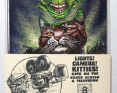 Lights-Camera-Kitties - Cats in Movies and TV- 5 x 7 Postcard package of 8