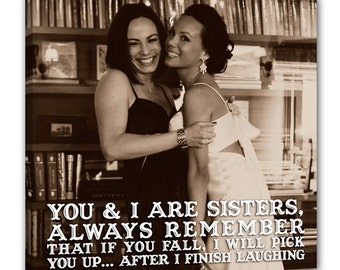 Personalized Gift Sisters, Siblings Custom Canvas Photo with Lyrics, Quotes on  Canvas 10X10
