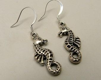 Steampunk earrings.Sea horse earrings.