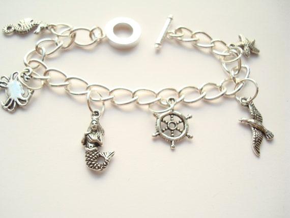 mermaid ariel the sea charm bracelet