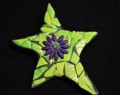 Polymer Mosaic Star pin