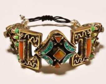 Vintage Tibetan Silver Bracelet