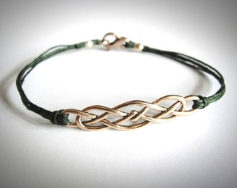 Rose Gold Celtic Knot bracelet Bronze Irish Celtic Knot Scottish Outlander Bracelet