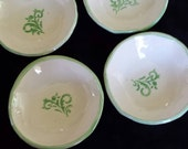 Green and Cream Mini Trinket Bowls