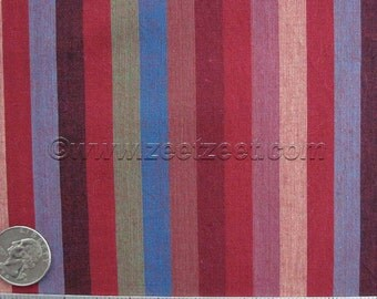 Kaffe Fassett NARROW STRIPE RED Win Purple - Cotton Quilt Fabric by the Yard, Half Yard, or Fat Quarter Fq