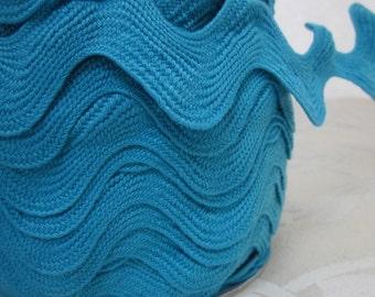 Extra Wide Turquoise Blue Jumbo Ricrac