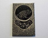 Toad moon magnet 2 x 3 inches
