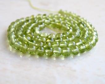 Peridot Gemstone Smooth Round Green 4mm 90 beads Full strand