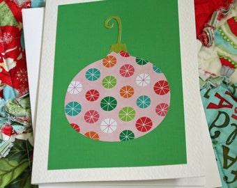 Handmade Christmas Card with Ornament