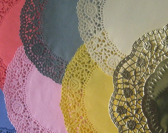 Made In Germany 13 Fancy Paper Lace Doilies Doily Assorted Colors 6.25 Inch