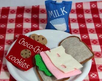 Felt Food Ham and Swiss Cheese Sandwich Set