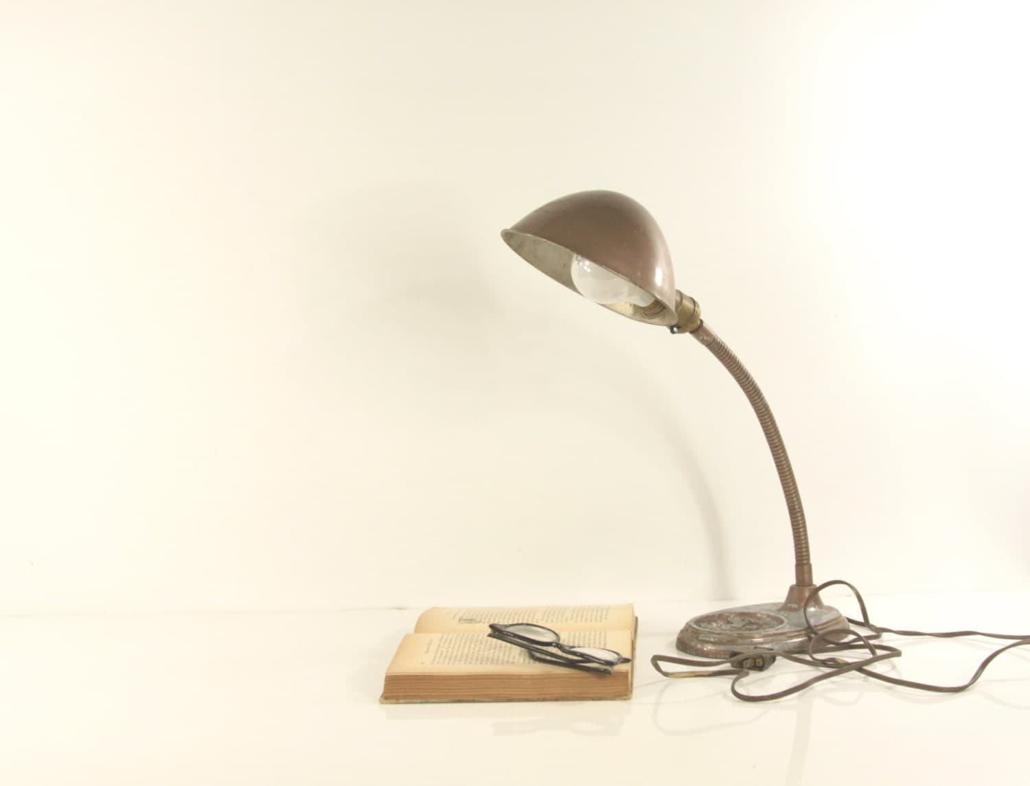 Vintage art deco gooseneck lamp clamp