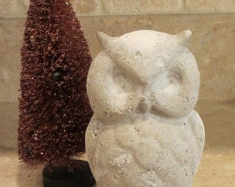"Unfinished paper mache 6"" Halloween Owl"