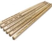 Personalized Laser Engraved Wooden Drumsticks