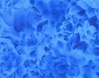 Flowers Blue Bedfordshire RJR Jinny Beyer Fabric 1 yard
