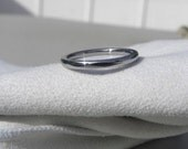 Titanium Ring or Narrow Domed Profile Polished Band