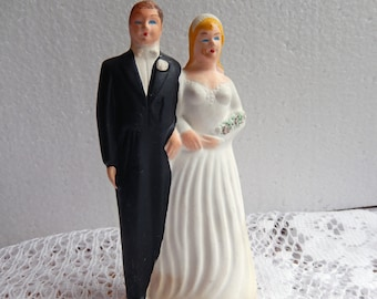 Vintage 1948 Bisque Bride and Groom Cake topper