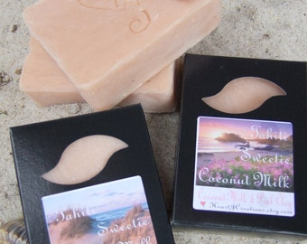 TAHITI SWEETIE ~ Pink Clay COCONUT Milk Soap