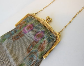 1930s purse / Unchain My Heart Vintage 30's Whiting & Davis Mesh Purse