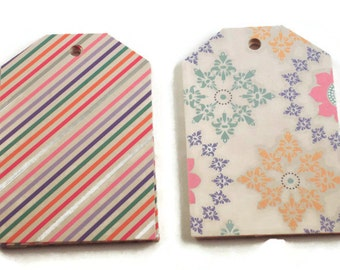 Funky Tags  Large Paper Gift Tags in Annabelle Set of 20