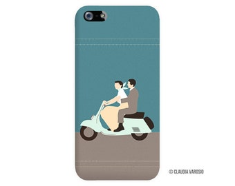 Roman Holiday illustrated customisable Iphone case