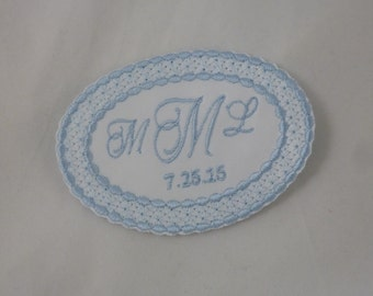 Wedding Dress Label  Lace Oval