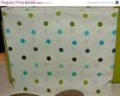 Final Clearance 75% OFF Blueberry Dot - fat quarter - reclaimed sheet fabric