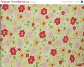 Final Clearance 75% OFF Pollyanna - fat quarter - reclaimed sheet fabric
