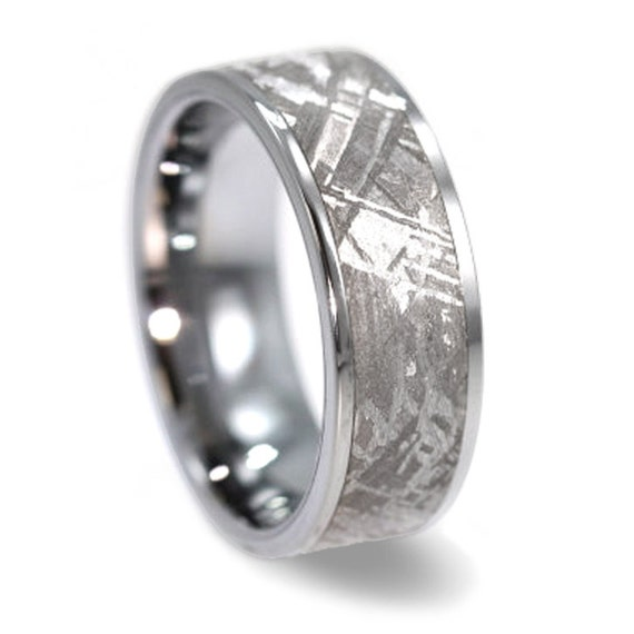 Mens Wedding Ring Gibeon Meteorite Tungsten By Jewelrybyjohan