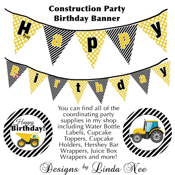 Items Similar To INSTANT DOWNLOAD Construction Party
