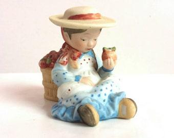 Vintage Holly Hobbie Figurine Apples