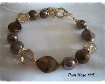 Brown DIABETES Bronze Medical Alert Bracelet