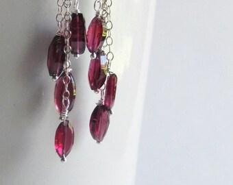 Garnet Earrings - Garnet Jewelry - January Birthstone - January Earrings