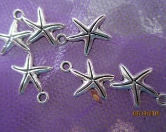 Starfish   3 Antique Metal Starfish  Necklace   Pendants or Earrings  17 MM starfish