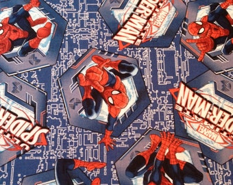 The Ulitmate Spiderman Grid Fabric By The Yard FBTY