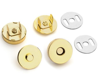 500 Sets 18mm 3/4 Inch Gold Magnetic Purse Snaps Closures - Free Shipping  (MAGNET SNAP MAG-118)