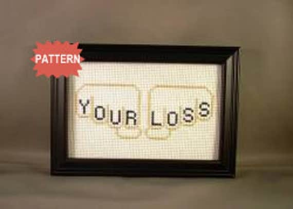 PDF/JPEG Knuckle Cross Stitch With Inter Changeable Alphabet (Pattern)