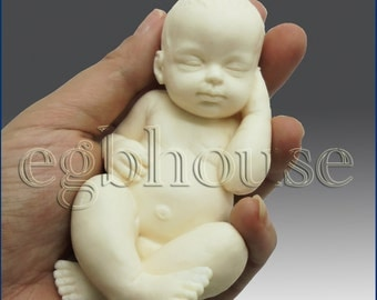 3D Silicone Soap/plaster/clay Mold-Lifelike Baby Caden(2 parts assembled)  - Buy from Original Designer - Say no to copy cats