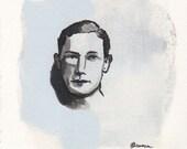 William - Original Painting on Paper by Elizabeth Bauman