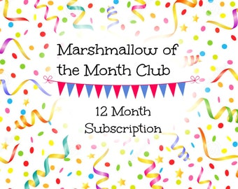 Cupcakes In Jars Marshmallow of the Month Club - 12 Month Subscription