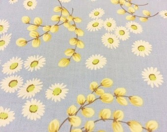 Cotton Quilting Fabric | Amy Butler Ginger Bliss | Blue Daisy Willow 1/2 yard