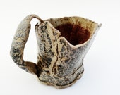 Twisted Rustic Mug, Hobbit Cup, Small Mug, Bark Textured, Grey Brown,  Rustic Pottery, Primitive Cup, Gift for Him, Tea Mug, Coffee Mug