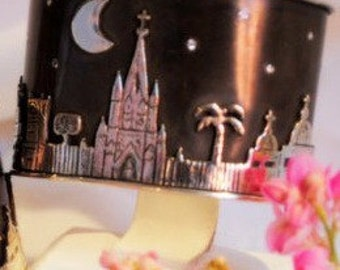 Extra Wide San Miguel Skyline Bracelet