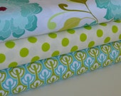 Riley Blake Designs - Halle Rose by Lila Tueller - Le Creme Dots Lime - Halle Rose in Teal