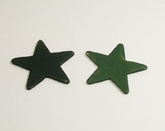 Wooden Plaques Stars Black Green 1:12 Dollhouse Miniatures Scale Artisan