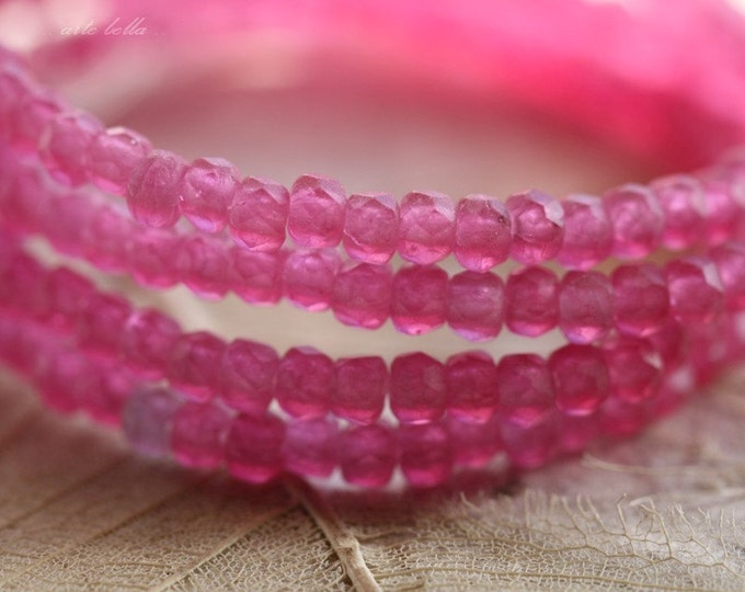 sale .. MATTE LOTUS BITS .. 50 Premium Czech Glass Rondelle Beads 2x3mm (4311-st)