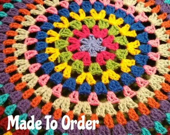 Granny Circle Crochet Spare Tire Cover
