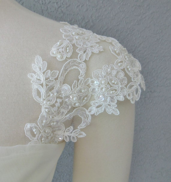Detachable Ivory Beaded Lace Straps To Add To By