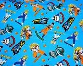 "Dragon ball fabric 50 cm by 106  cm or 19.6"" by 42 "" Half meter"